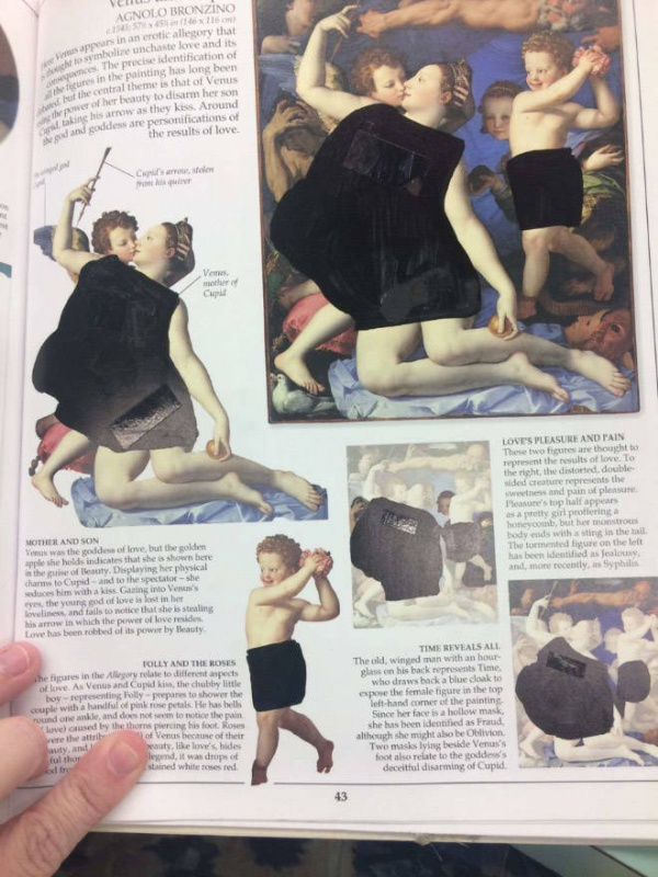 Christian College Students Show How Censored Their Classical Art Books Are