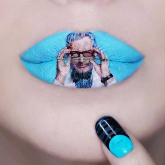 Lips As A Canvas To Create Pop Culture-Inspired Art