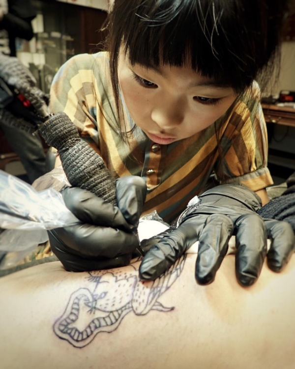 Noko Is A 10-Year-Old Tattoo Apprentice | Others