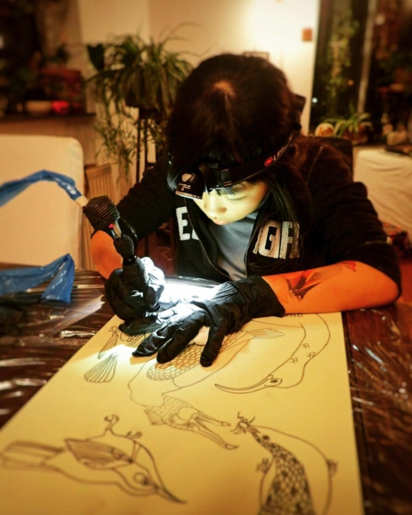 Noko Is A 10-Year-Old Tattoo Apprentice