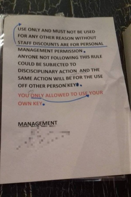 Strange And Funny Management Notices