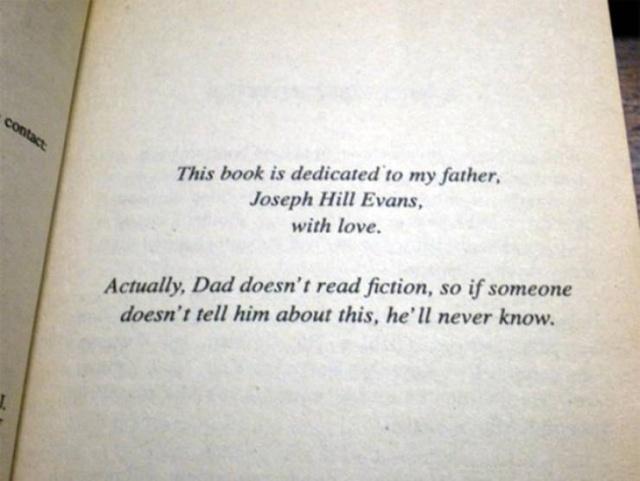 Every Good Book Needs A Good Dedication