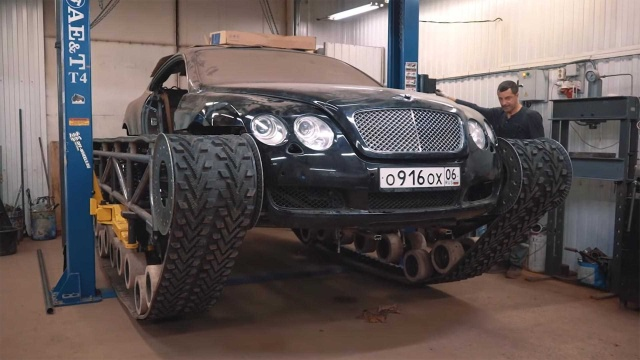 Russians Has Built A Bentley Continental GT Tank