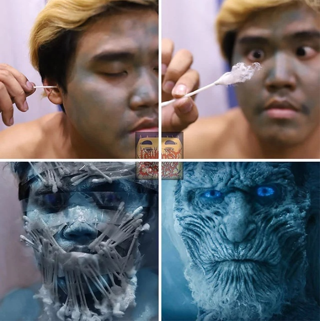 Cheap Cosplay Guy Turns Himself Into 6 'Game Of Thrones' Characters