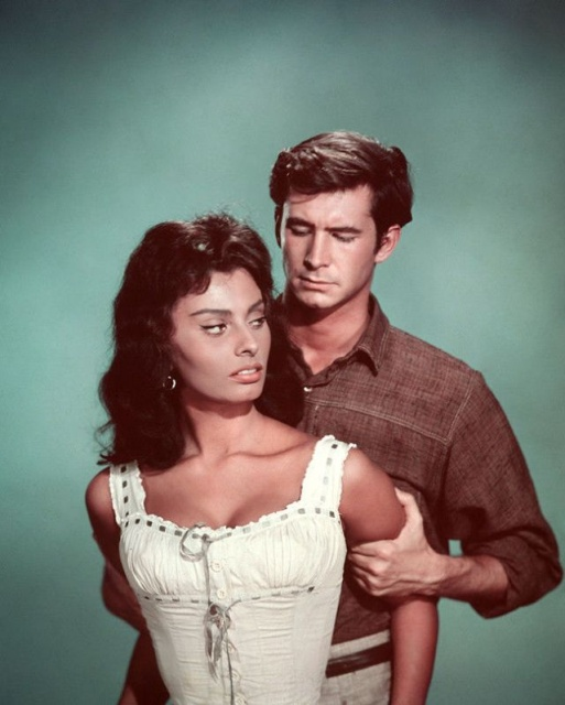 Sophia Loren and Anthony Perkins In 'Desire Under the Elms'