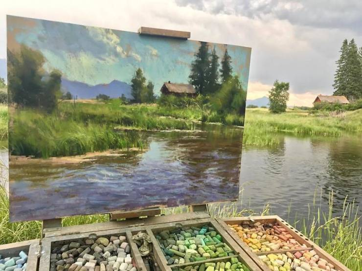 Artist Combines Paintings And Photos Of Nature