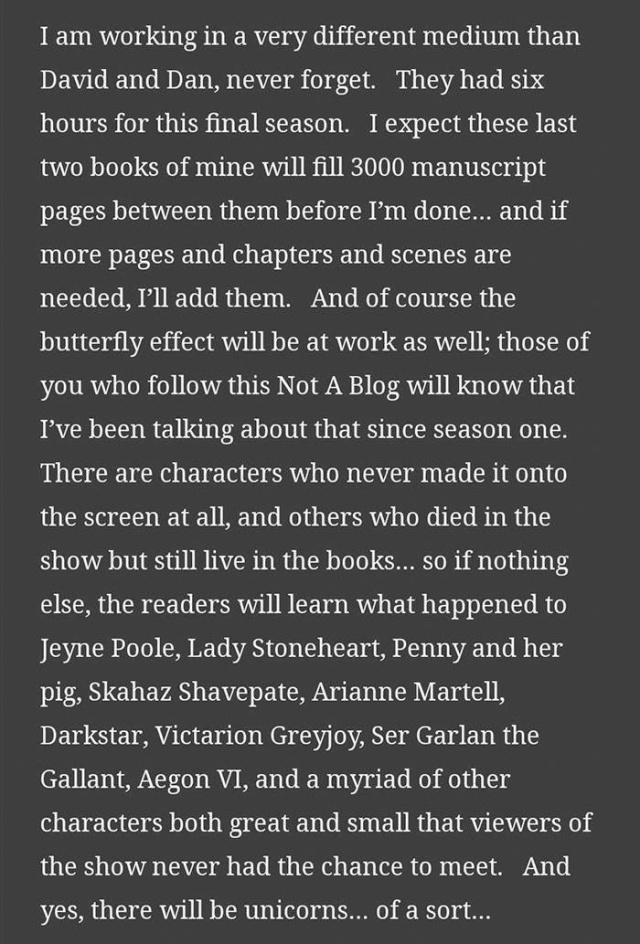 """George R.R. Martin Talks About Final """"Game Of Thrones"""" Books On His Blog"""