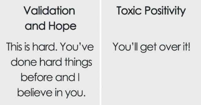 The Difference Between Support And Toxic Positivity