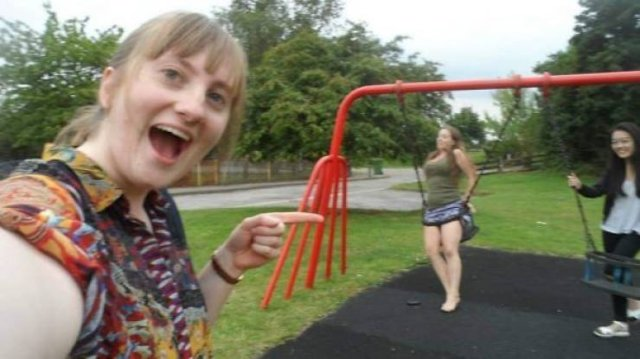 Adults At Childrens' Playgrounds