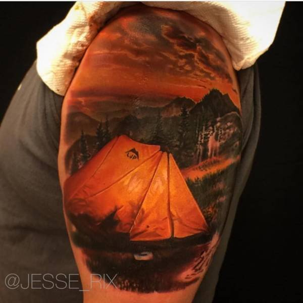 Very Realistic 3D Tattoo