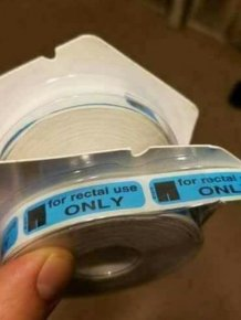 """""""For Rectal Use Only Stickers"""" Placed Anywhere"""