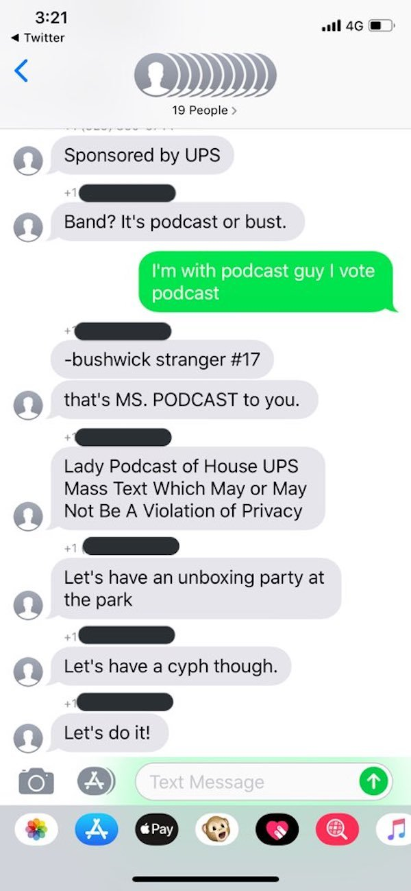 Wrong Number Text From UPS Leads To Neighborhood Band