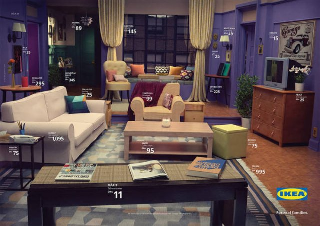 Rooms From Famous TV Shows Recreated With IKEA Products