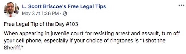 Free And Hilarious Legal Advice Tips By L. Scott Briscoe