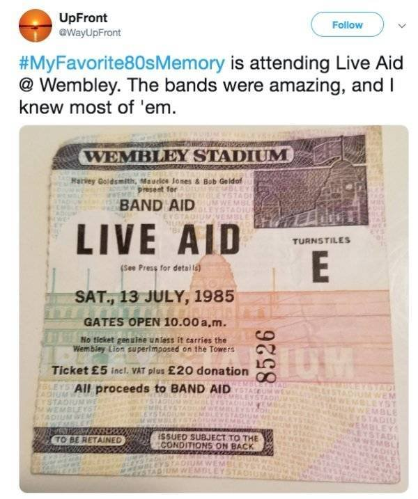 Favorite 80s Memory