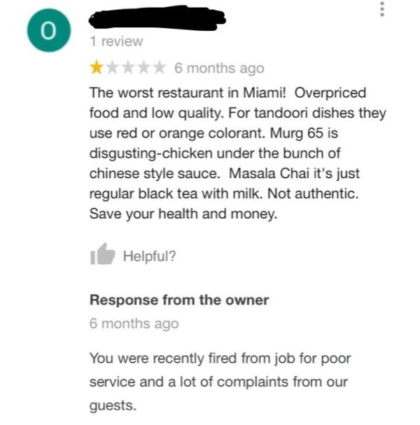 These Restaurant Owners Know How To Deal With Bad Reviews