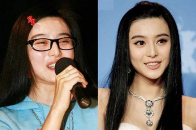 Asian Girls With And Without Their Makeup