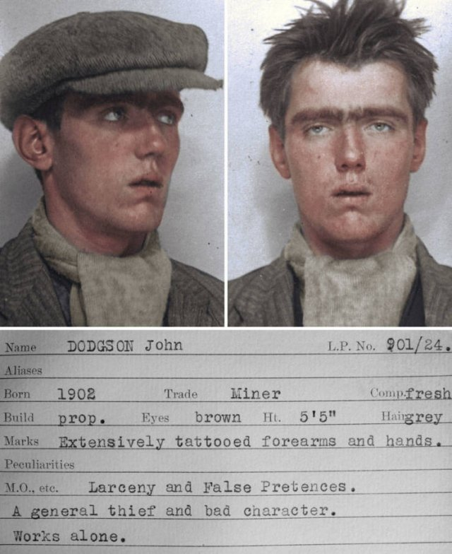 Colorized Mugshots Of Criminals From The 30's