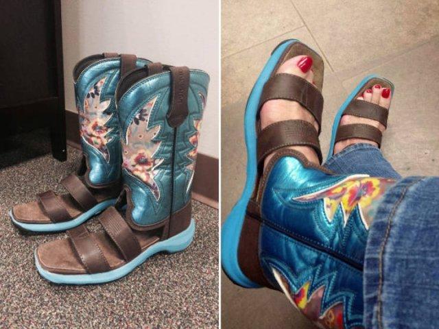 When Cowboy Boots Meet Sandals