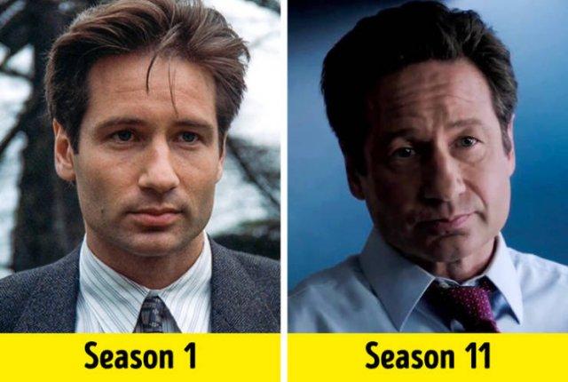 TV Show Actors, First Season Vs. Last Season