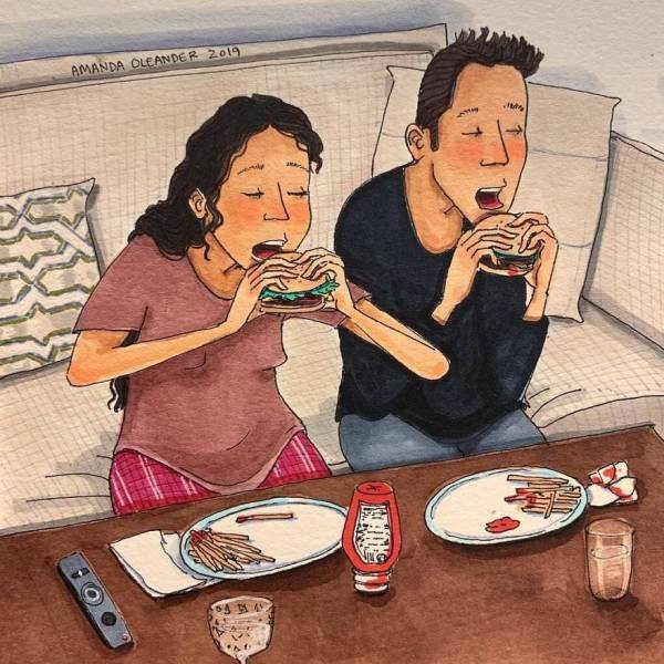 Comics About Relationships By Amanda Oleander