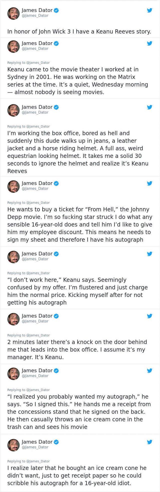 Keanu Reeves Is A Great Guy