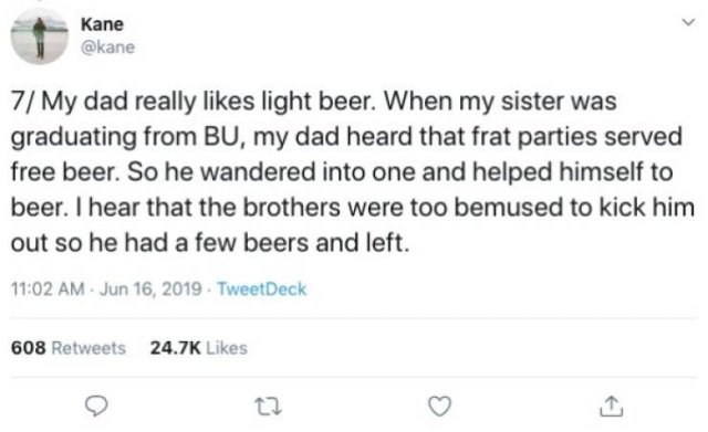 Guy Tells About The Asian Ron Swanson, Who Is Also His Dad