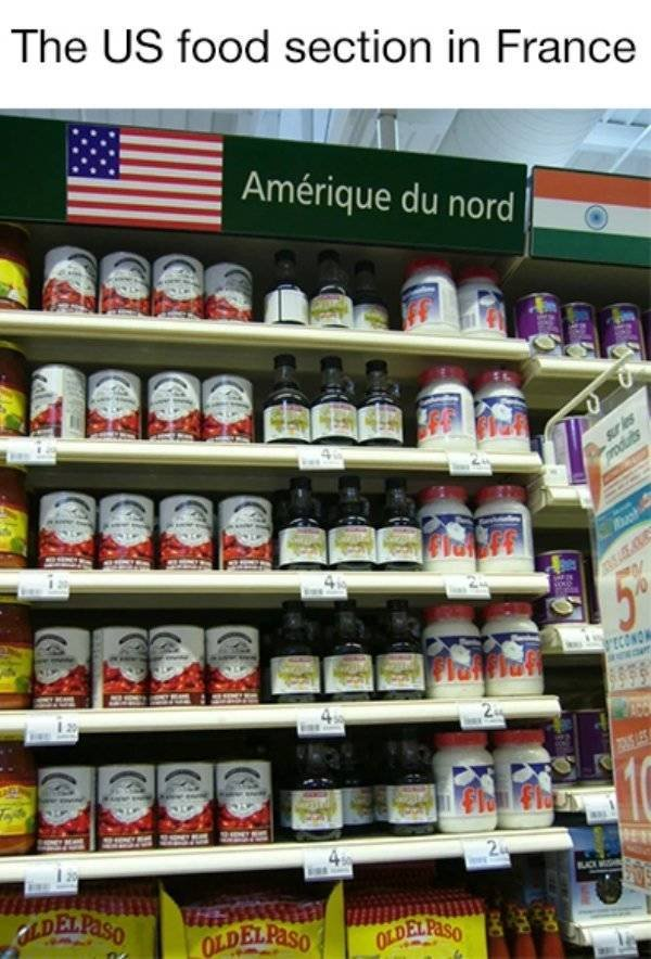 "How Various Countries Present ""American"" Food In Local Supermarkets"