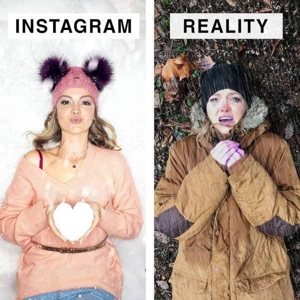 Instagram Vs Reality By Geraldine West