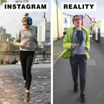 Instagram Vs Reality By Geraldine West