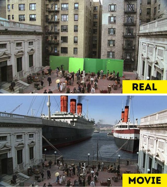 Behind-The-Scenes Photos VS Movie Moments