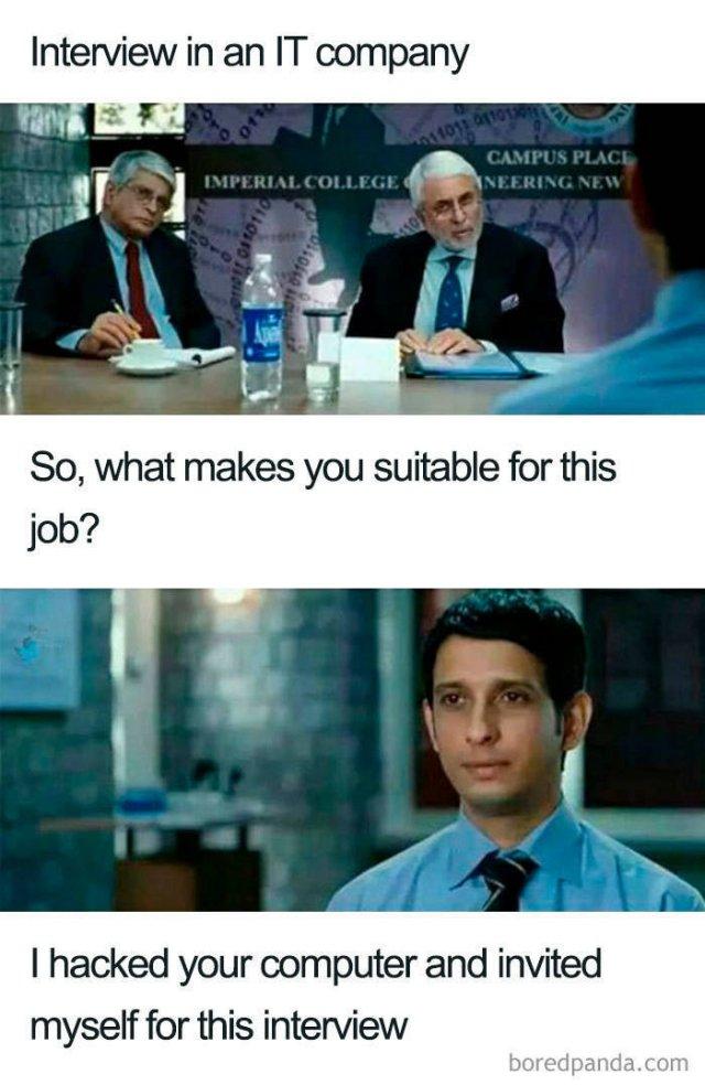 Job Interview Memes, part 2
