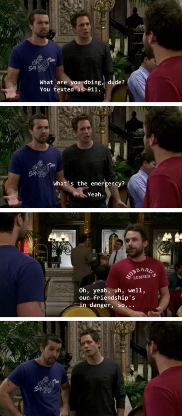 "Funny ""It's Always Sunny In Philadelphia"" Moments"