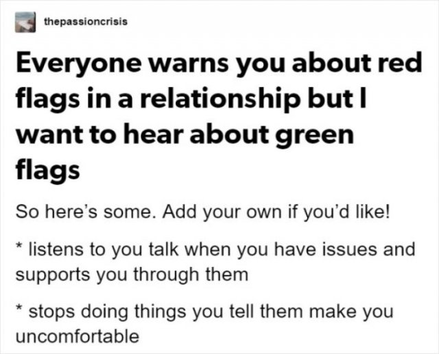 Green Flags In Relationships