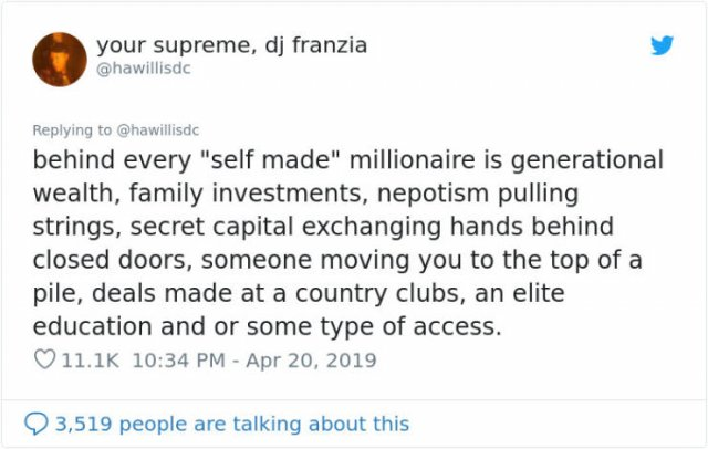 And What's Your Excuse For Not Being A Billionaire?