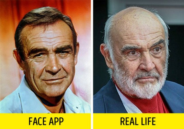"FaceApp ""Old Filter"" Added To Retro Photos Of Celebs Vs Real Photos Of Celebrities"