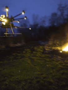 Awesome Flame-thrower Drones