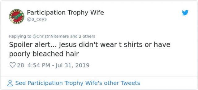 """Woman Wears A """"Jesus Wasn't Vaccinated"""" T-Shirt, And Internet Reacts"""