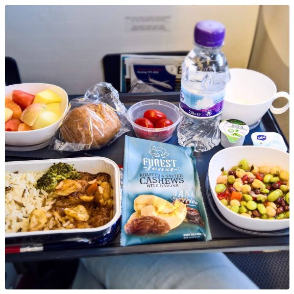 Economy Class Food Vs Business Class Food
