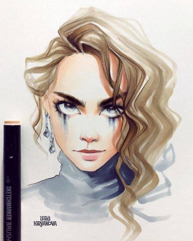 Cute Versions Of Celebrities By A Russian Artist Lera Kiryakova