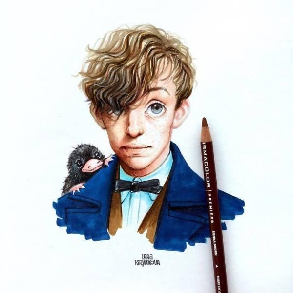 Cute Versions Of Celebrities By A Russian Artist Lera Kiryakova