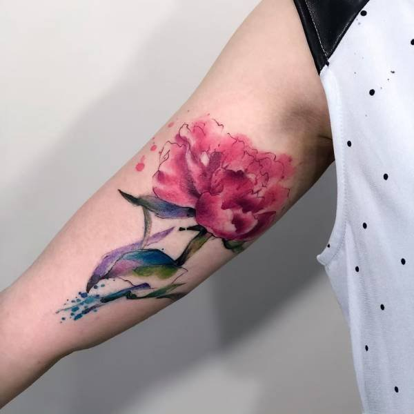 Tattoos With Watercolor Technique