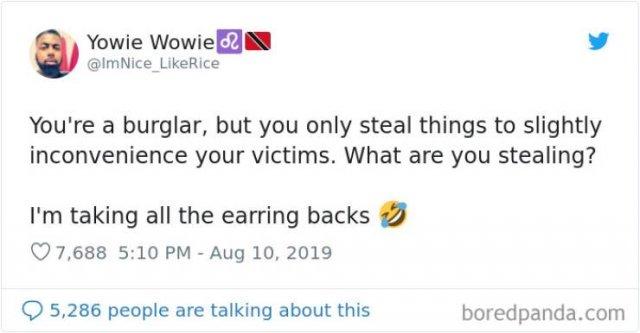 Let's Pretend You Are A Burglar