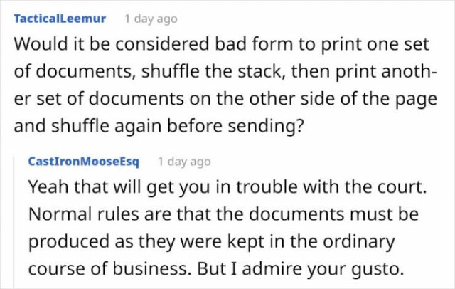 Here's A Paperwork Bomb For You, My Dear Ex-Wife