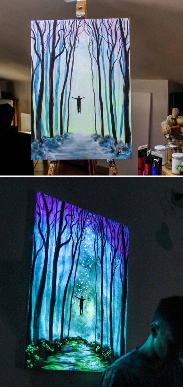 Turn Off The Lights To See The Beauty Of These Paintings