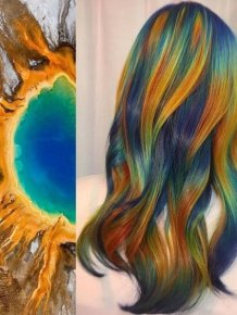 Incredible Combination Of Nature And Hair
