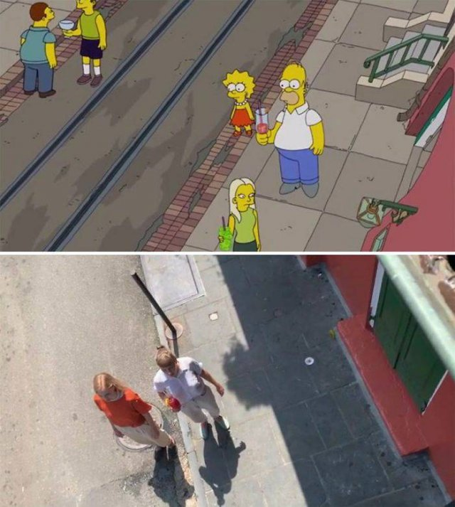 """Two Swiss Tourist Girls Recreate """"The Simpsons"""" Scenes In New Orleans"""