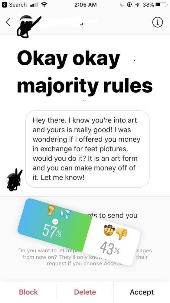 A Girl Trolls An Ex-classmate Who Offered Her $50 For Pictures Of Her Feet