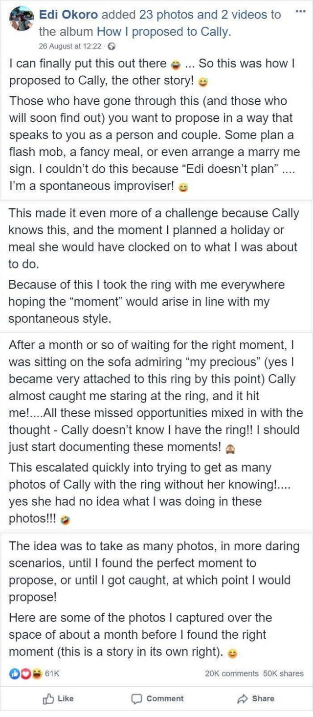 When Will She See That Engagement Ring?