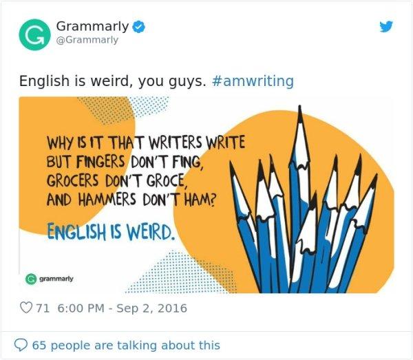The English Language Can Be Strange